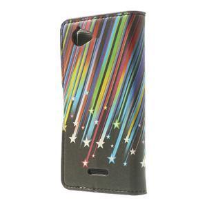 Peněženkové pouzdro na Sony Xperia L C2105 - meteor - 2