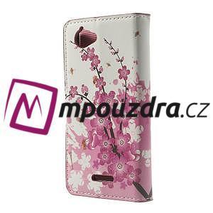 Peněženkové pouzdro na Sony Xperia L C2105- kvetoucí větvička - 2