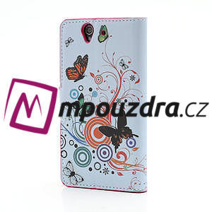 Peněženkové pouzdro na Sony Xperia Z C6603 - barevní motýlci - 2