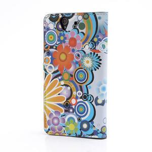 Peněženkové pouzdro na Sony Xperia Z C6603 - barevné vzory - 2