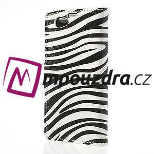 Peněženkové pouzdro na Sony Xperia Z1 Compact D5503 - zebrované - 2