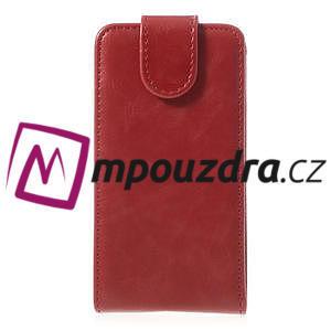Flipové pouzdro na Sony Xperia Z1 Compact D5503 - červené - 2