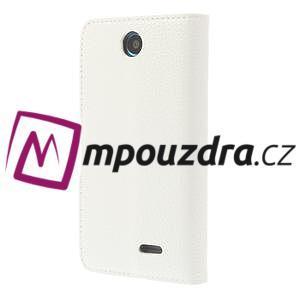 Peněženkové PU kožené pouzdro na HTC Desire 310- bílé - 2