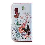 Peněženkové pouzdro pro LG Optimus L5 Dual E455-barevní motýli - 2/5