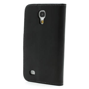 Peněženkové PU kožené pouzdro na Samsung Galaxy S4 mini i9190- černé - 2