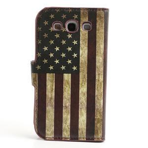 Peněženkové pouzdro na Samsung Galaxy S3 i9300- USA vlajka - 2