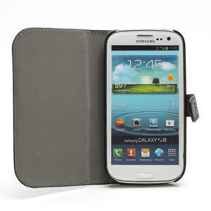 Peněženkové pouzdro na Samsung Galaxy S3 i9300- černé - 2