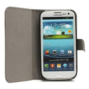 Peněženkové pouzdro na Samsung Galaxy S3 i9300- bílé - 2