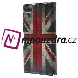 Flipové pouzdro na Xiaomi Mi3- UK vlajka - 2