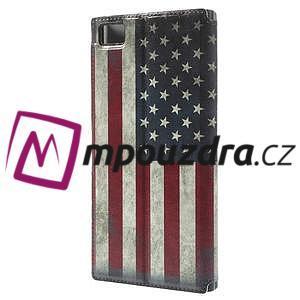 Flipové pouzdro na Xiaomi Mi3- USA vlajka - 2