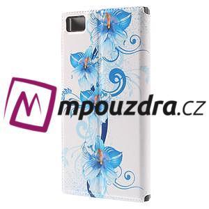 Flipové pouzdro na Xiaomi Mi3- modrá lilie - 2