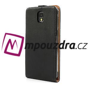 Flipové PU kožené pouzdro na Samsung Galaxy Note 3- černé - 2