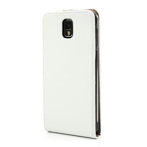 Flipové PU kožené pouzdro na Samsung Galaxy Note 3- bílé - 2
