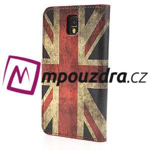 Peněženkové pouzdro na Samsung  Galaxy Note 3- UK vlajka - 2