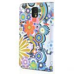Peněženkové pouzdro na Samsung Galaxy Note 3- barevné květy - 2/7