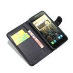 Peněženkové PU kožené pouzdro na Alcatel One Touch Idol OT-6030D- černé - 2/6