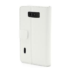 Peněženkové pouzdro na LG Optimus L7 P700 - bílé - 2