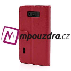 Peněženkové pouzdro na LG Optimus L7 P700 - červené - 2