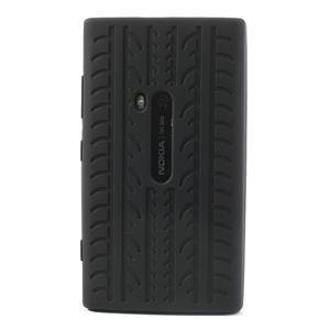 Silokonové PNEU pouzdro na Nokia Lumia 920-černé - 2