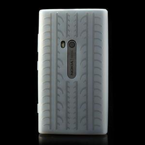 Silokonové PNEU pouzdro na Nokia Lumia 920- bílé - 2