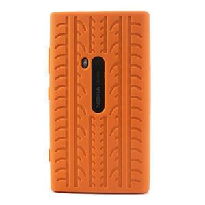 Silokonové PNEU pouzdro na Nokia Lumia 920- oranžové - 2