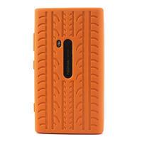 Silokonové PNEU pouzdro na Nokia Lumia 920- oranžové - 2/5