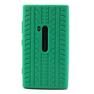 Silokonové PNEU pouzdro na Nokia Lumia 920- zelené - 2