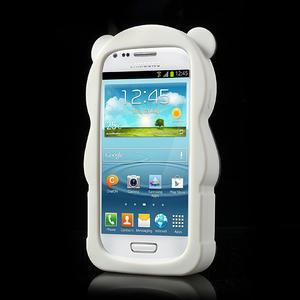 3D Silikonové pouzdro pro Samsung Galaxy S3 mini / i8190 - vzor žlutá panda - 2