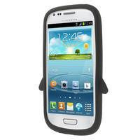 Silikonový TUČŃÁK pouzdro na Samsung Galaxy S3 mini i8190- černý - 2/7
