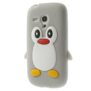 Silikonový TUČŃÁK pouzdro na Samsung Galaxy S3 mini i8190- šedý - 2