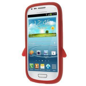 Silikonový TUČŃÁK pouzdro na Samsung Galaxy S3 mini i8190- červený - 2