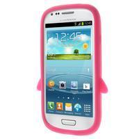 Silikonový TUČŃÁK pouzdro na Samsung Galaxy S3 mini i8190- růžový - 2/7