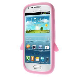 Silikonový TUČŃÁK pouzdro na Samsung Galaxy S3 mini i8190- světlerůžový - 2