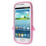 Silikonový TUČŃÁK pouzdro na Samsung Galaxy S3 mini i8190- světlerůžový - 2/7