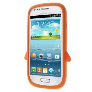 Silikonový TUČŃÁK pouzdro na Samsung Galaxy S3 mini i8190- oranžový - 2