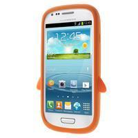 Silikonový TUČŃÁK pouzdro na Samsung Galaxy S3 mini i8190- oranžový - 2/7
