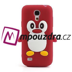 Silikon 3D TUČŇÁK pro Samsung Galaxy S4 mini i9190- červený - 2