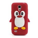Silikon 3D TUČŇÁK pro Samsung Galaxy S4 mini i9190- červený - 2/5