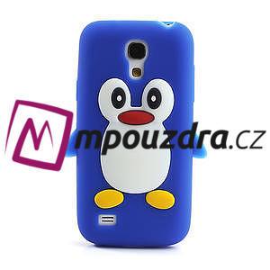 Silikon 3D TUČŇÁK pro Samsung Galaxy S4 mini i9190- modrý - 2