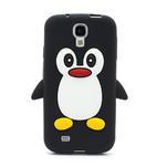 Silikonový Tučňák pouzdro pro Samsung Galaxy S4 i9500- černý - 2/3