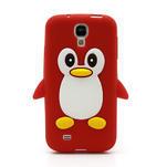 Silikonový Tučňák pouzdro pro Samsung Galaxy S4 i9500- červený - 2/7