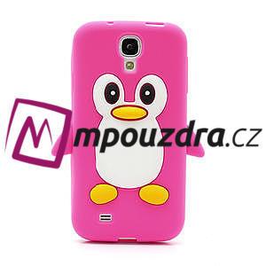 Silikonový Tučňák pouzdro pro Samsung Galaxy S4 i9500- růžový - 2