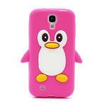 Silikonový Tučňák pouzdro pro Samsung Galaxy S4 i9500- růžový - 2/5