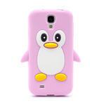 Silikonový Tučňák pouzdro pro Samsung Galaxy S4 i9500- světle-růžový - 2/7
