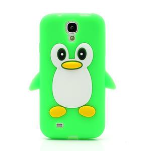 Silikonový Tučňák pouzdro pro Samsung Galaxy S4 i9500- zelený - 2