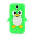 Silikonový Tučňák pouzdro pro Samsung Galaxy S4 i9500- zelený - 2/6