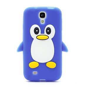 Silikonový Tučňák pouzdro pro Samsung Galaxy S4 i9500- modrý - 2