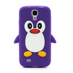 Silikonový Tučňák pouzdro pro Samsung Galaxy S4 i9500- fialový - 2