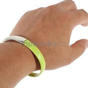 Multifunkční náramek micro USB, zelený - 2