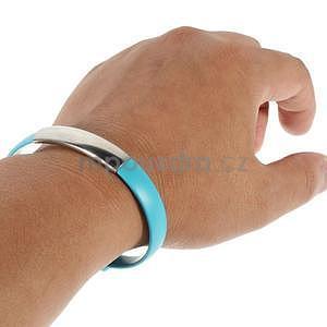 Multifunkční náramek micro USB, modrý - 2